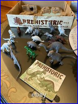 MARX PREHISTORIC TIMES PLAY SET DINOSAURS No. 3394 IN ORIG BOX With BOOKLET EXC