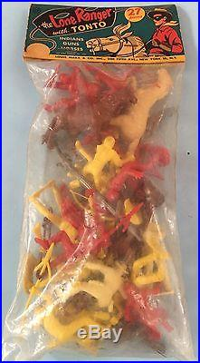 MARX Playset 1957 LONE RANGER with TONTO Header Bag. Mint Condition