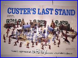 MARX Playset CUSTER'S LAST STAND #6014 Sears 1963 Near Complete Play Set RARE