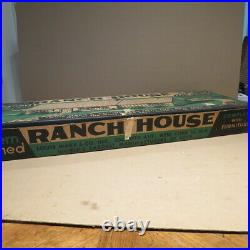 MARX Ranch House Doll House playset, no #, 1950s, MIB