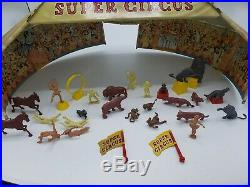 MARX SUPER CIRCUS PLAY SET 1950s No. 4319 TIN LITHO withBox and Most Pieces