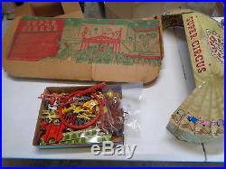 MARX SUPER CIRCUS PLAYSET With BOX 4319 TIN LITHO VINTAGE TOY 1952 RARE