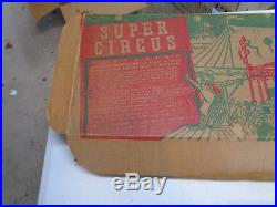 MARX SUPER CIRCUS PLAYSET With BOX 4319 TIN LITHO VINTAGE TOY 1952 RARE