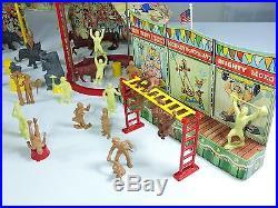 MARX Super Circus play set No. 4319 vintage tin litho 1952 Louis Marx metal rare