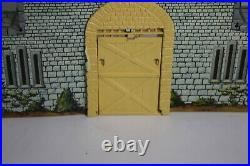 MARX TIN LITHO CASTLE Vintage RARE YELLOW
