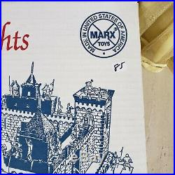 MARX TOYS Castle Of The Noble Knights Medieval Play Set #4710 200 pieces withCOA