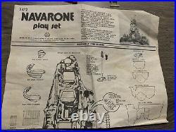 MARX TOYS GUNS OF NAVARONE MOUNTAIN PLAYSET Incomplete