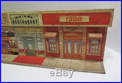 Marx Untouchables Playset Tin Litho Street Front Streetfront Building Vintage