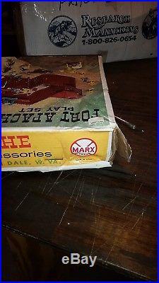 MINT IN BOX Marx 3681 Fort Apache unopened. Still stapled shut