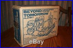 MPC Vintage 1976 Beyond Tomorrow Lunar Space Army Station Playset & Box Marx