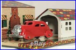 Marx 1938 Hollywood Bungalow tin litho playset pressed steel tootsietoy RARE