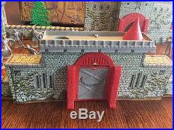 Marx 1950s Robin Hood Playset Castle Set Accessories With Box And Rare Flag