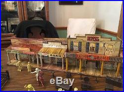 Marx 1952 Roy Rodgers Western Town, Complete Set