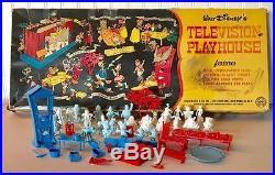 Marx 1953 Walt Disney Television Playhouse 99% COMPLETE WithBOX. SUPER RARE