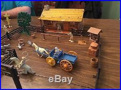 Marx 1957 Lone Ranger Play Set In Excellent Condition