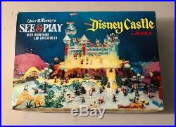 Marx 1960s Walt Disney SEE & PLAY CASTLE. MINT NEW OLD STORE STOCK
