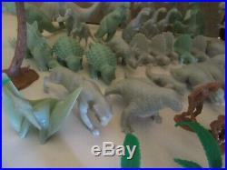 Marx 1971 Prehistoric Playset #3398 Dinosaurs Cavemen Land Trees
