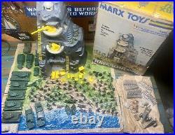 Marx 1975 WWII Battle Of Navarone Battleground Play Set Plastic Army 41/51 Tanks