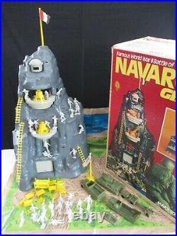 Marx, 1977, Famous WWII Battle of NAVARONE GIANT Play Set #4302 (Lot A) with Box