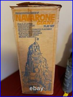 Marx, 1977, Famous WWII Battle of NAVARONE GIANT Play Set with Box