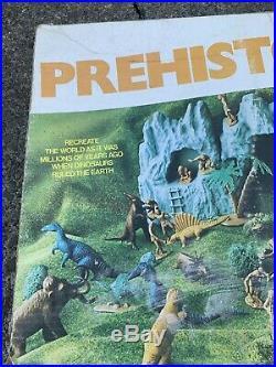 Marx 1978 Prehistoric Dinosaur Playset With Box # 4208