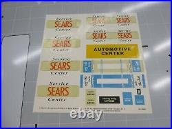 Marx 3436 Sears Service Center Tin Lithograph Gas Station Diorama Cars Toy