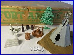 Marx #3632-C Canadian Fort Apache Stockade playset complete from 1957