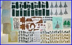Marx 3745 Korean War Battleground with Box Bags Original Vintage & Complete