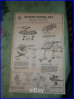 Marx 4174 DESERT PATROL playset Great shape
