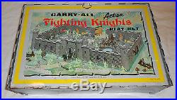 Marx #4635 Carry All Fighting Knights Play Set Tin With Tons Parts 1960's