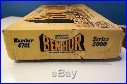 Marx 4701 Series 5000 Ben-hur Playset Complete Original Vintage