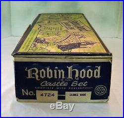 Marx #4724 Series 1000 Robin Hood Castle Playset in Box from 1956