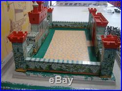 Marx 4735 Playset Knights & Vikings Rare Huge Original Box W Vacuum Base