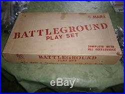 Marx 4757 ALLIED BATTLEGROUND playset with playmat