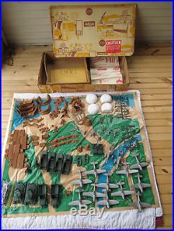 Marx #6012 D-Day Landing Set, Sears Allstate Box, Vintage Louis Marx & CO. INC