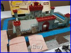 Marx 6053 Vikings And Knights Playset Sears Box Battleground Looks Complete
