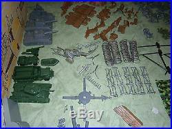 Marx 6058 AMERICAN PATROL playset withbags GREAT SHAPE