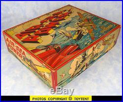 Marx Air-Sea Power Naval warfare play set bomber target ships mat original box