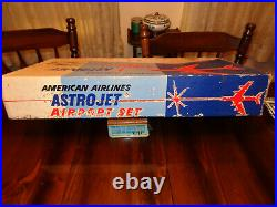 Marx American Airlines Astrojet Airport 1961 Playset, Box, Instruction, Play Mat