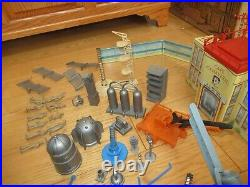 Marx Atomic Cape Canaveral Missile Base wt Many Parts & Accessories 1950s