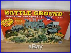 Marx Battle Ground Action Playset with Flying F-18 Sealed Box