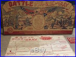 Marx Battle Of The Blue And Gray Play Set Series 3000 Box#4759