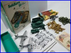 Marx Battleground 2255 Soldiers 50 Pc Storage Box Playset Mint Unused Wow