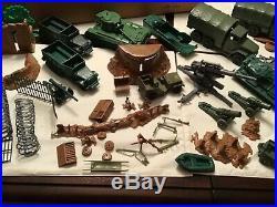 Marx Battleground 4756 Playset With Box 170 figures 15 + vehicles