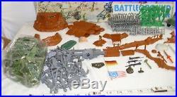 Marx Battleground American Vs. Germans World War II Playset Boxed