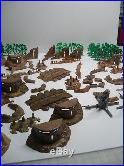 Marx Battleground, Europe, D Day Etc Terrain Pcs Rare Swirls Huge Lot