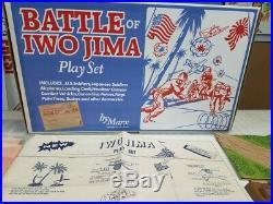 Marx Battleground Iwo Jima Deluxe Tribute Set Must See! Wow