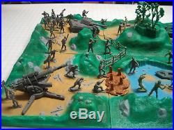 Marx Battleground Iwo Jima Desert Fox Dday Battle Diorama German/americam Marx