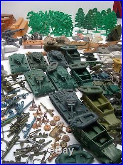 Marx Battleground, Iwo Jima, Desert Fox, Playset Huge Lot Hundreds Of Pcs. Play