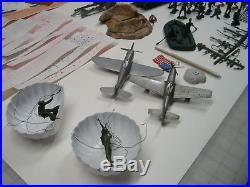 Marx Battleground Iwo Jima Play Set Rare Items Lot